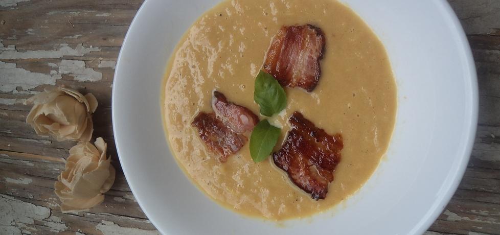 Zupa krem z białych szparagów z chipsami z boczku :) (autor ...