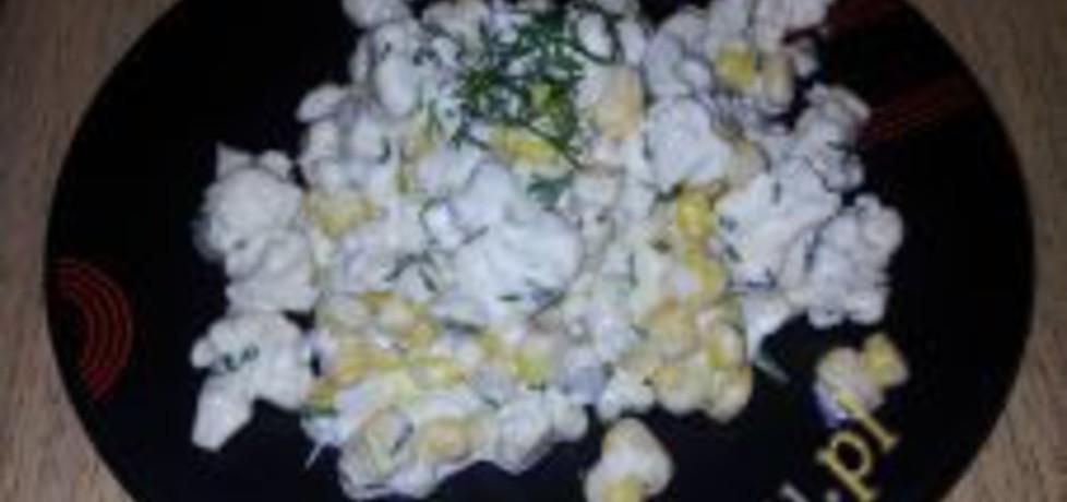 Sałatka z surowym kalafiorem i kukurydzą (autor: idealme ...